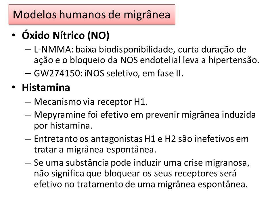 Óxido Nítrico (NO) – L-NMMA: baixa biodisponibilidade, curta duração de ação e o bloqueio da NOS endotelial leva a hipertensão.