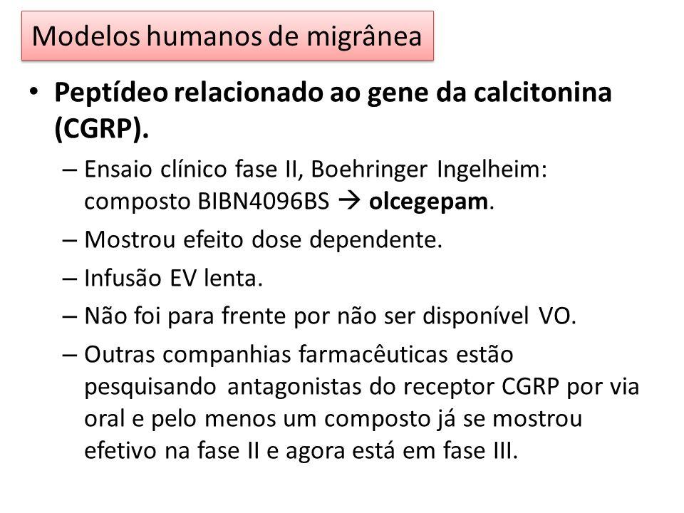 Peptídeo relacionado ao gene da calcitonina (CGRP).