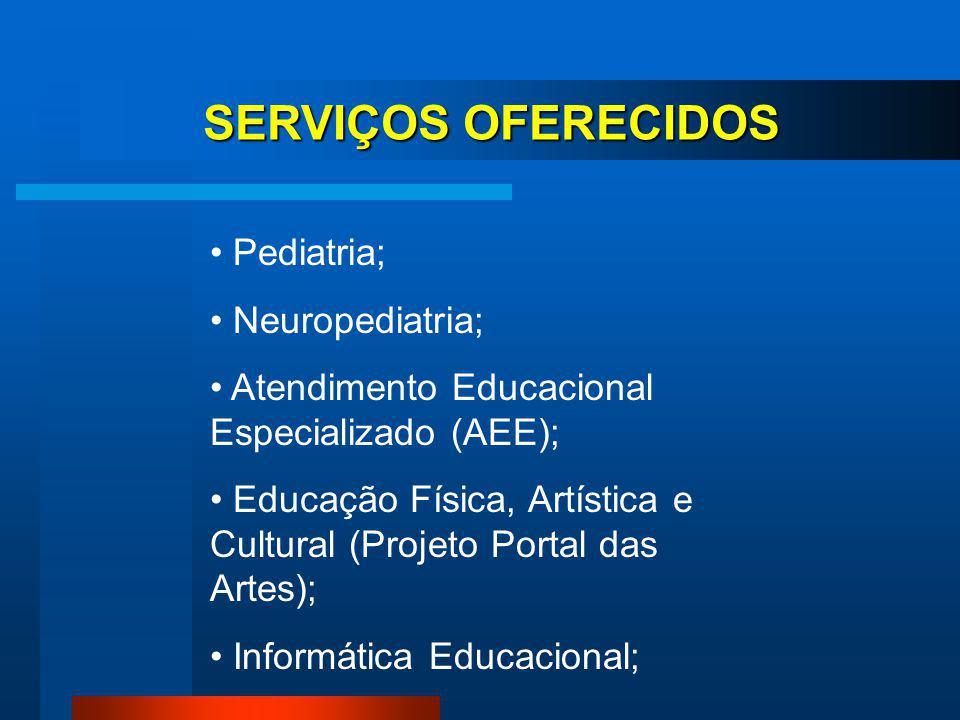 Estimulação Precoce; Odontologia; Fisioterapia; Fonoaudiologia; Terapia Ocupacional; Psicologia; Serviço Social; SERVIÇOS OFERECIDOS