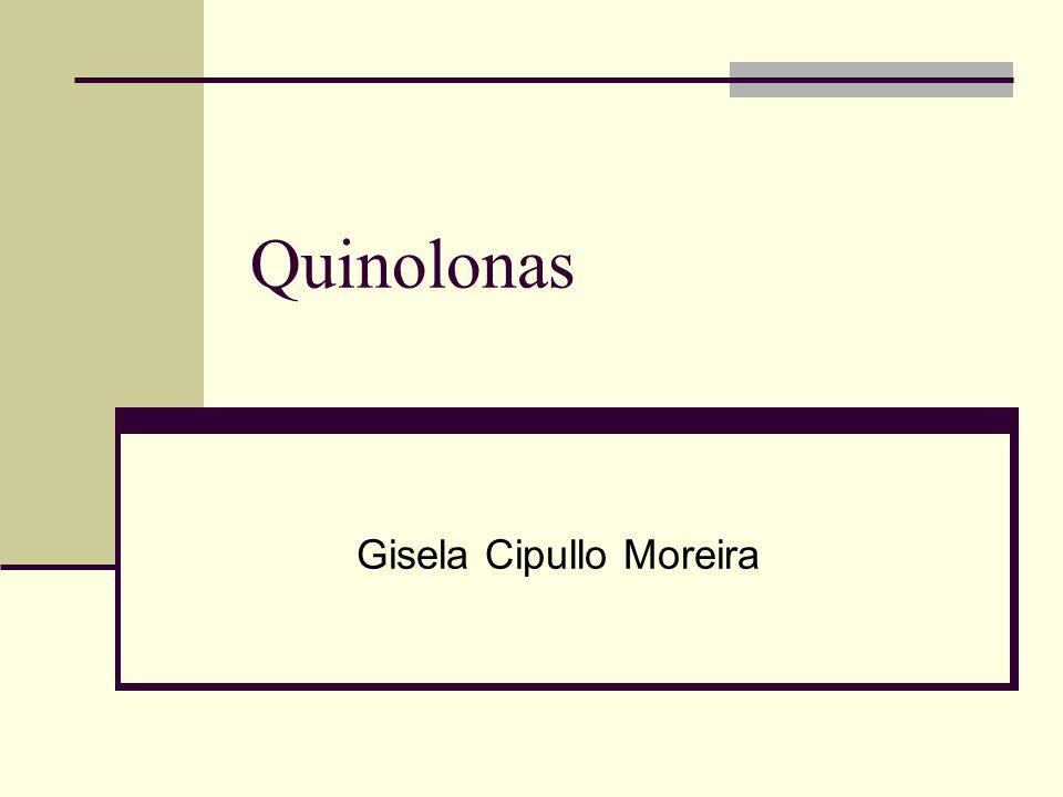 Ciprofloxacina, Pefloxacina e Ofloxacina Infecções urinárias altas Gonorréia Pneumonias por Gram-negativos Associado a aminoglicosídeos na fibrose cística Diarréia do viajante Infecções de pele, tecidos moles e osteomielites