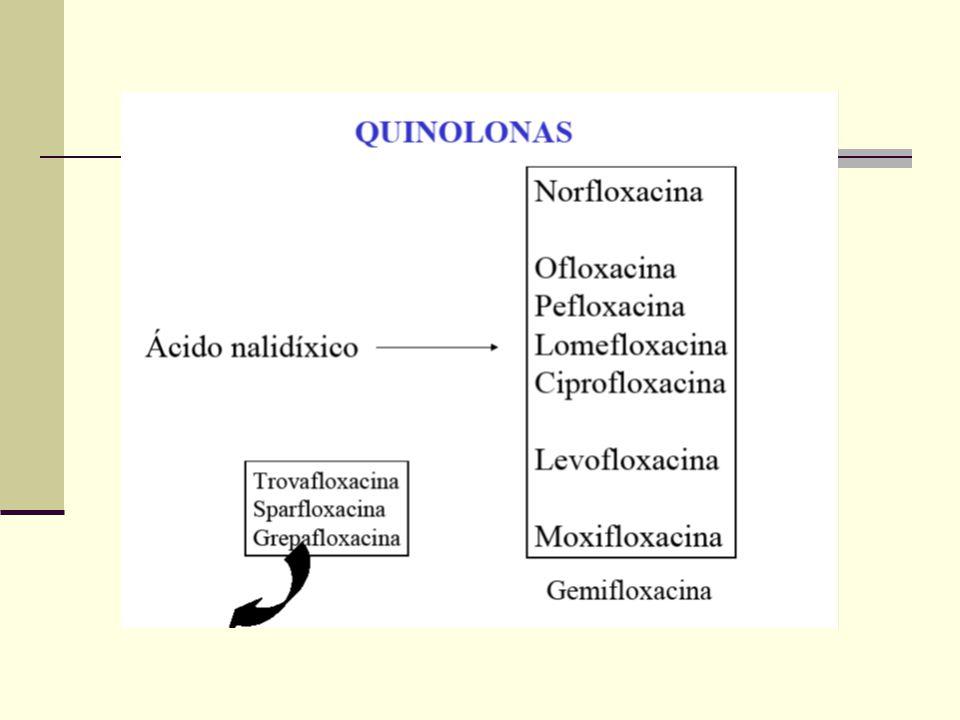 Quinolonas 1962 – descoberta acidental do Ac.