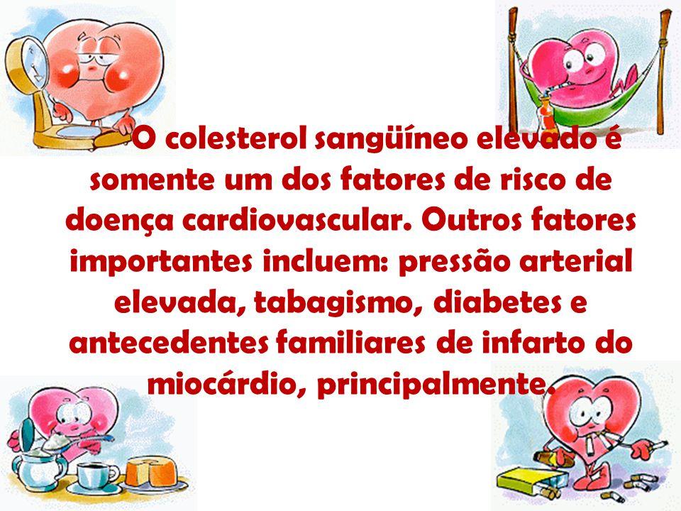 O colesterol sangüíneo elevado é somente um dos fatores de risco de doença cardiovascular. Outros fatores importantes incluem: pressão arterial elevad