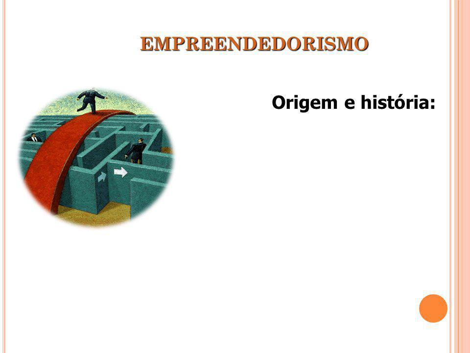 EMPREENDEDORISMO Origem e história: