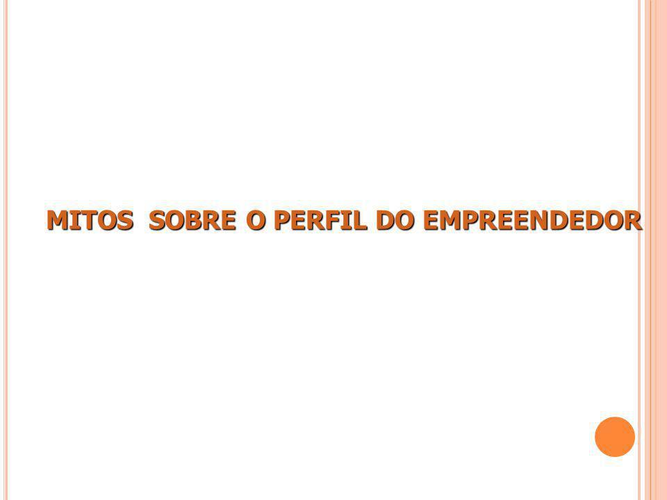 MITOS SOBRE O PERFIL DO EMPREENDEDOR MITOS SOBRE O PERFIL DO EMPREENDEDOR