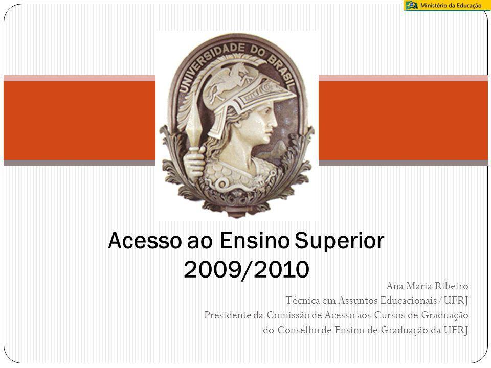 Ana Maria Ribeiro Técnica em Assuntos Educacionais/UFRJ Presidente da Comissão de Acesso aos Cursos de Graduação do Conselho de Ensino de Graduação da