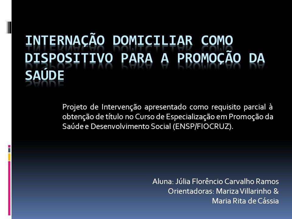 Aluna: Júlia Florêncio Carvalho Ramos Orientadoras: Mariza Villarinho & Maria Rita de Cássia Projeto de Intervenção apresentado como requisito parcial