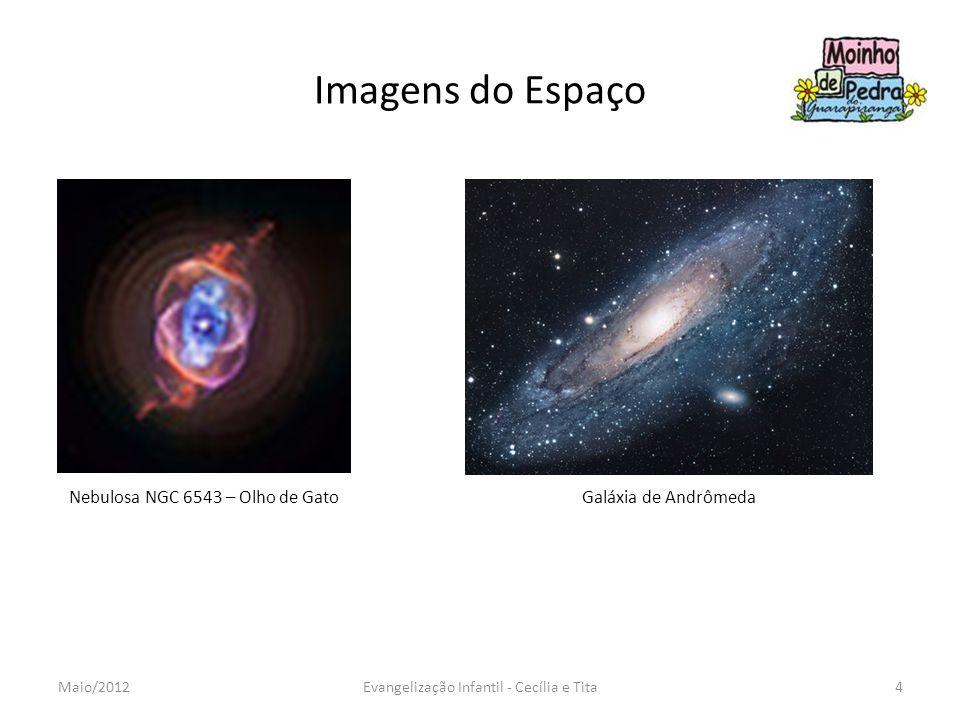Imagens do Espaço Nebulosa NGC 6543 – Olho de GatoGaláxia de Andrômeda 4Evangelização Infantil - Cecília e TitaMaio/2012