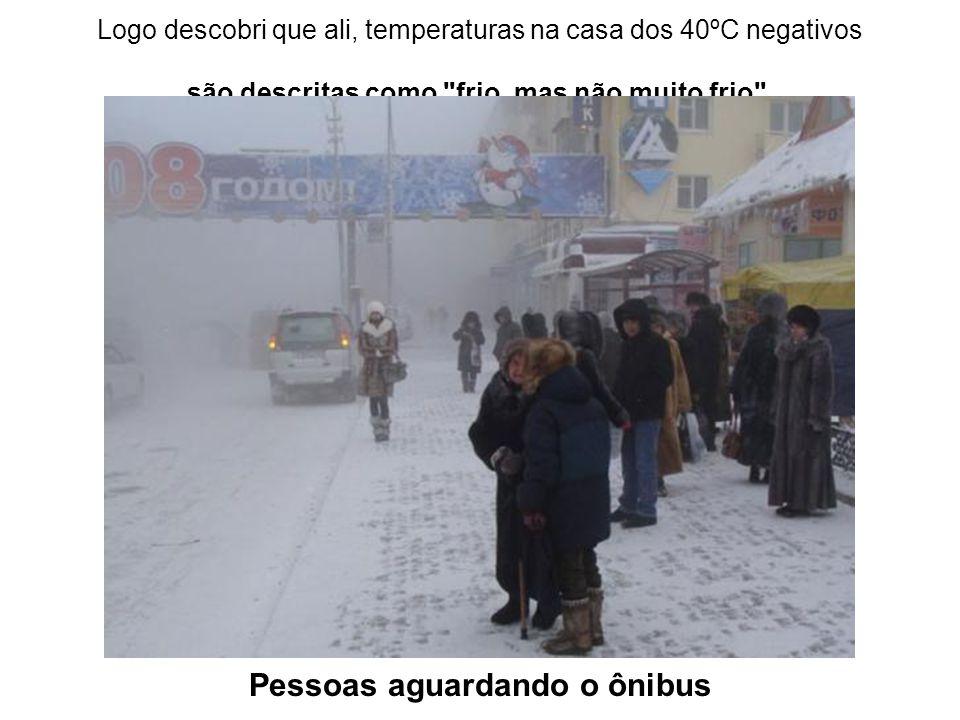 Logo descobri que ali, temperaturas na casa dos 40ºC negativos são descritas como