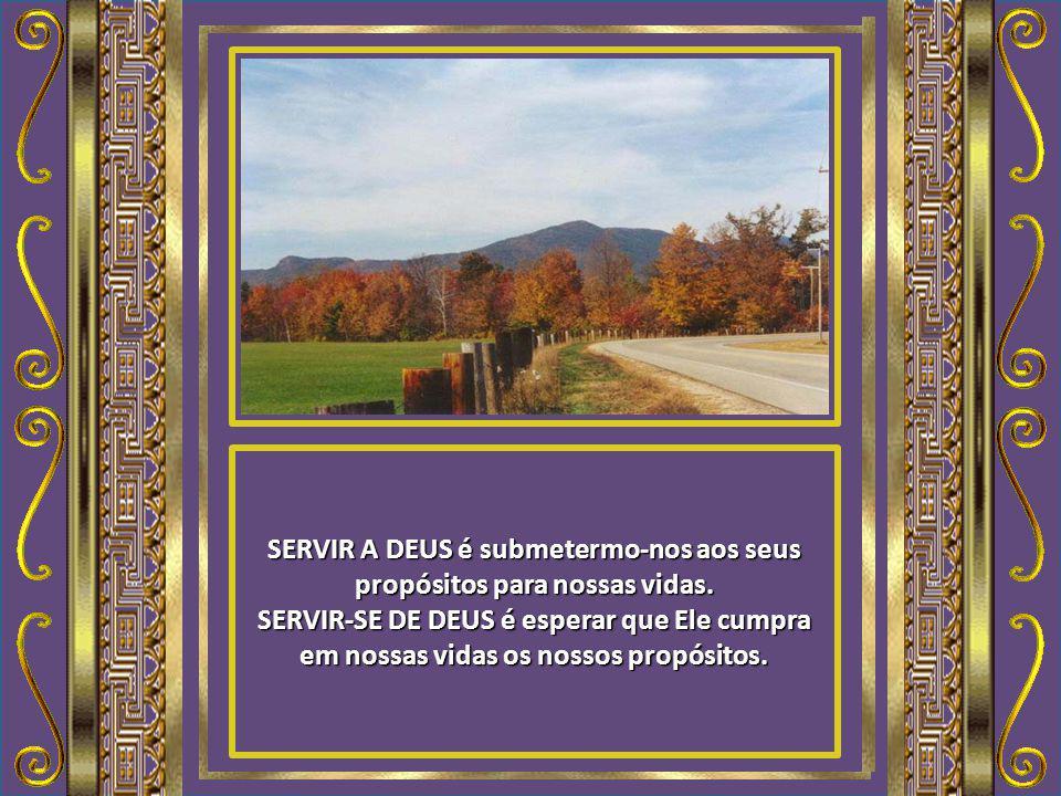 SERVIR A DEUS é deixar que o Bom Pastor nos guie por Seus caminhos, verdadeiros e seguros. SERVIR-SE DE DEUS é querer que Ele nos guie por caminhos qu