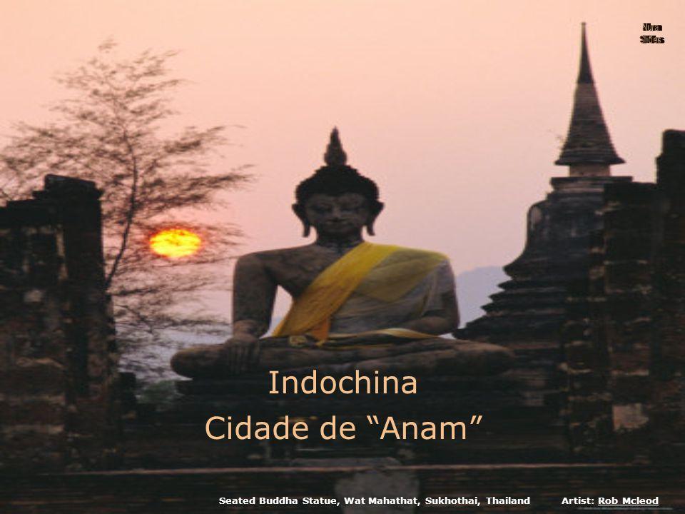 Seated Buddha Statue, Wat Mahathat, Sukhothai, ThailandArtist: Rob Mcleod Indochina Cidade de Anam