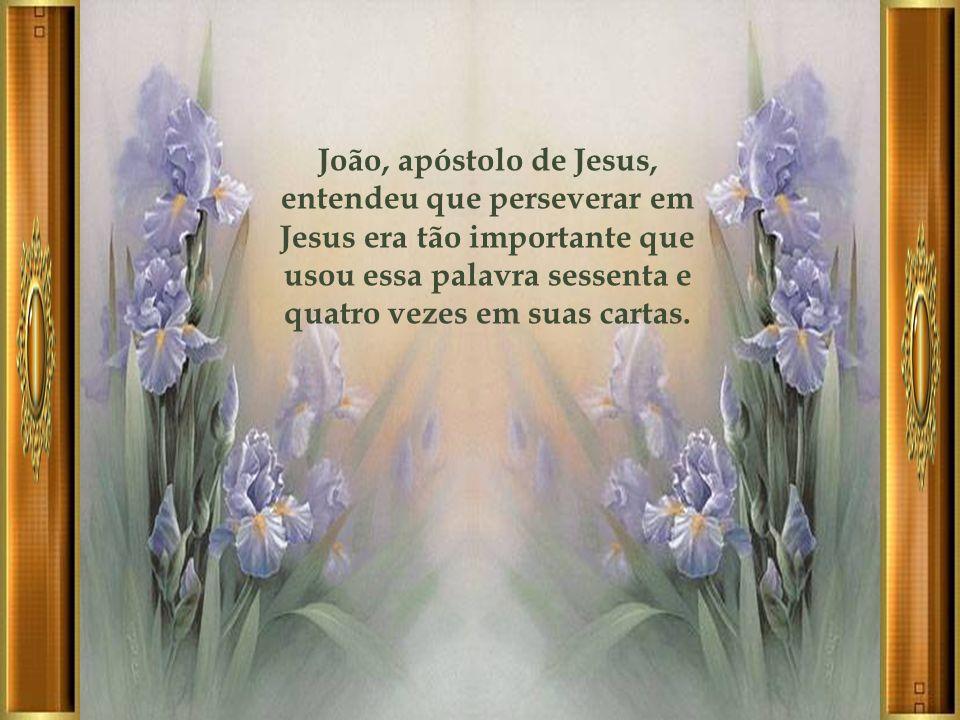 João, apóstolo de Jesus, entendeu que perseverar em Jesus era tão importante que usou essa palavra sessenta e quatro vezes em suas cartas.