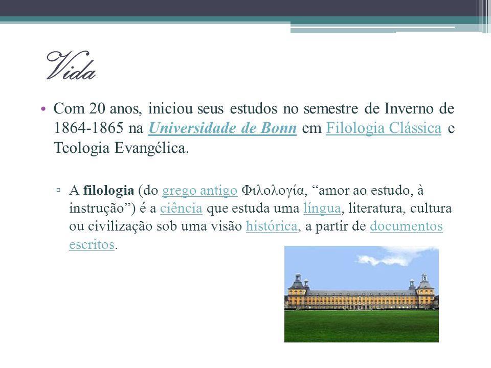 Vida Nietzsche transfere-se para Universidade de Leipzig, isso se deve, acima de tudo, à transferência do Prof.