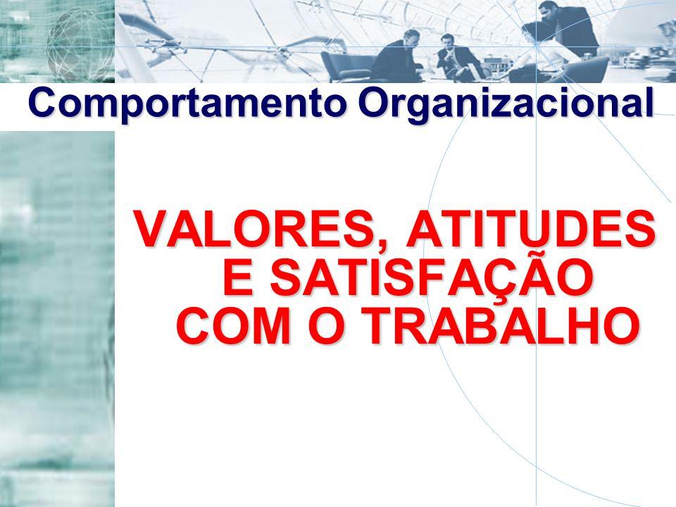VALORES, ATITUDES E SATISFAÇÃO COM O TRABALHO Comportamento Organizacional