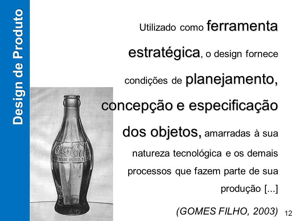 ferramenta estratégica planejamento, concepção e especificação dos objetos, Utilizado como ferramenta estratégica, o design fornece condições de plane