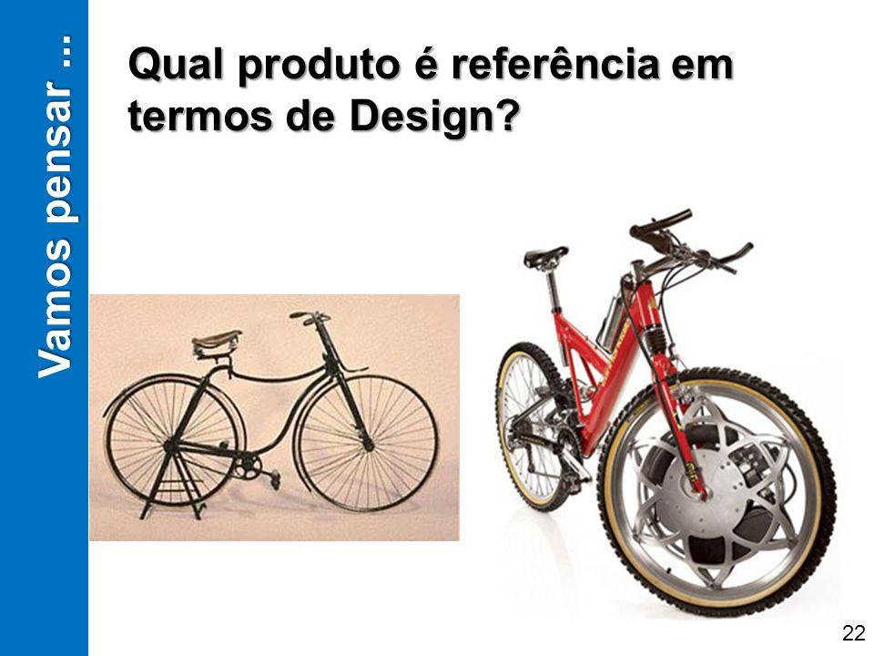 Vamos pensar... Qual produto é referência em termos de Design? 22
