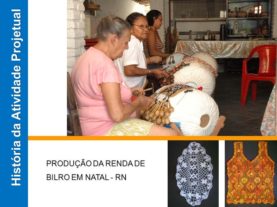 PRODUÇÃO DA RENDA DE BILRO EM NATAL - RN História da Atividade Projetual