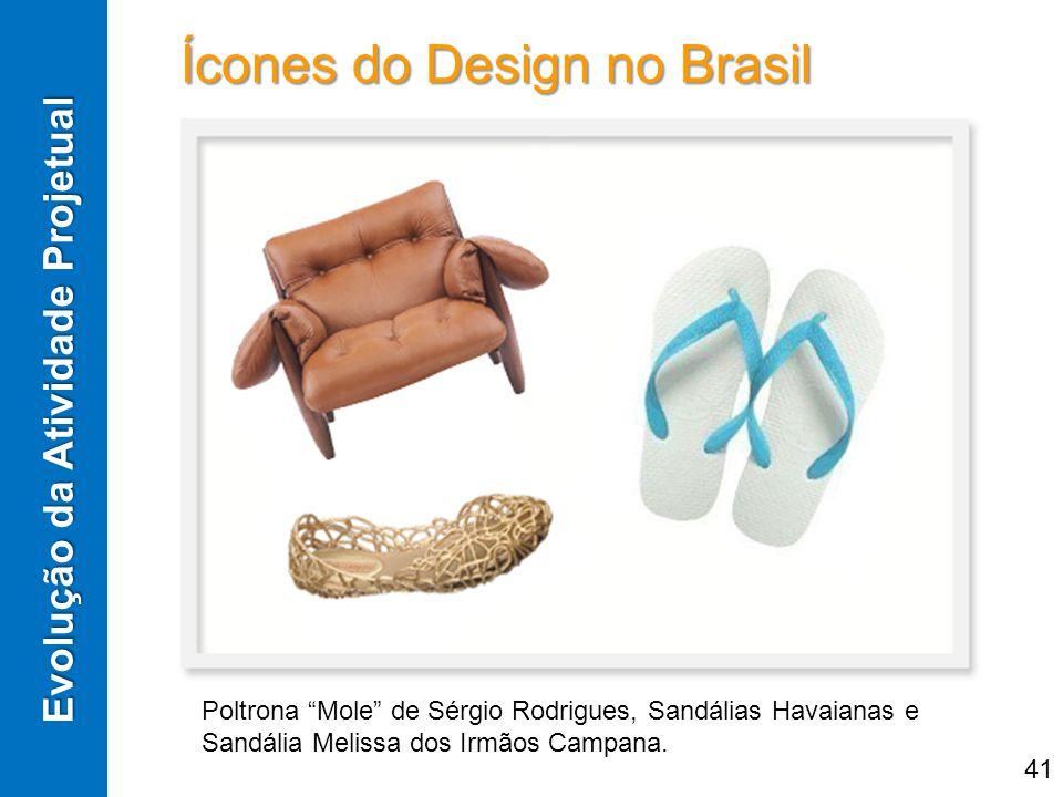 Ícones do Design no Brasil Evolução da Atividade Projetual Poltrona Mole de Sérgio Rodrigues, Sandálias Havaianas e Sandália Melissa dos Irmãos Campan