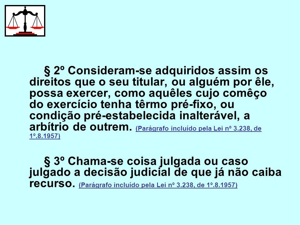 § 2º Consideram-se adquiridos assim os direitos que o seu titular, ou alguém por êle, possa exercer, como aquêles cujo comêço do exercício tenha têrmo
