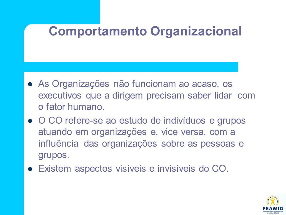 As Organizações não funcionam ao acaso, os executivos que a dirigem precisam saber lidar com o fator humano. O CO refere-se ao estudo de indivíduos e