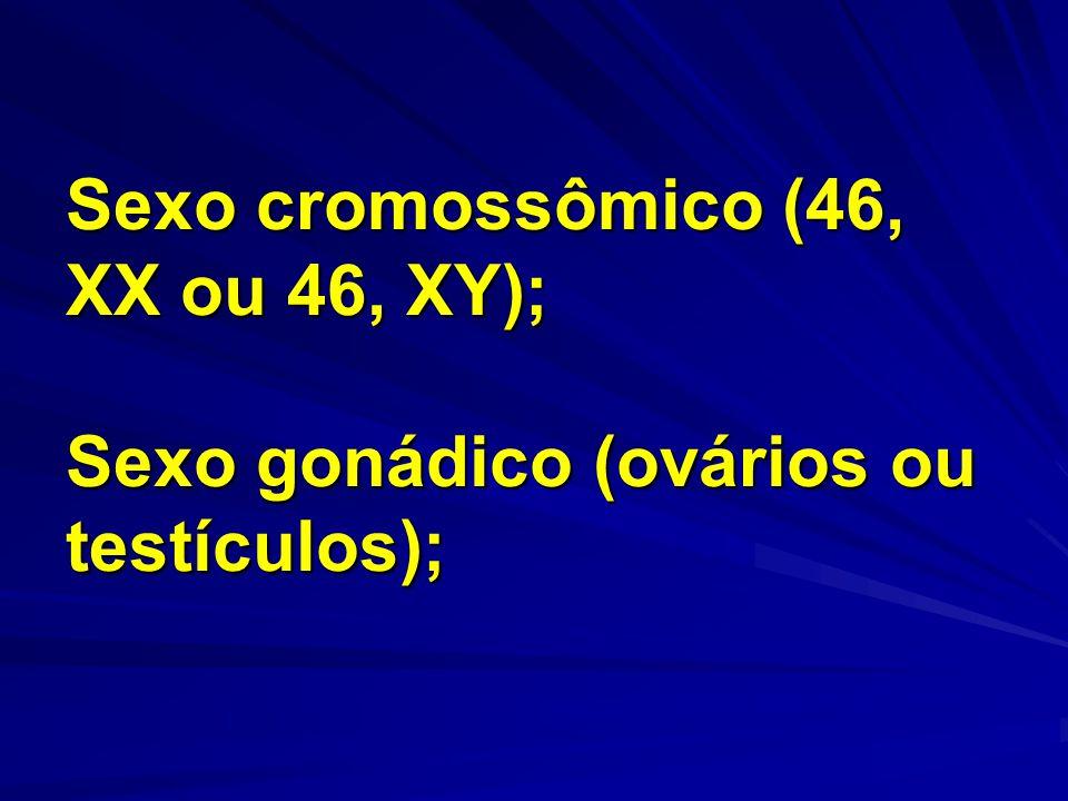 Sexo fenotípico (feminino ou masculino, caracteres sexuais internos ou externos); Sexo psicológico (de acordo com o comportamento).