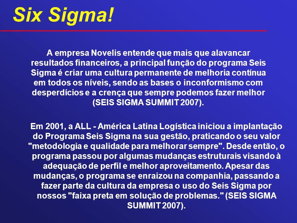 A empresa Novelis entende que mais que alavancar resultados financeiros, a principal função do programa Seis Sigma é criar uma cultura permanente de m