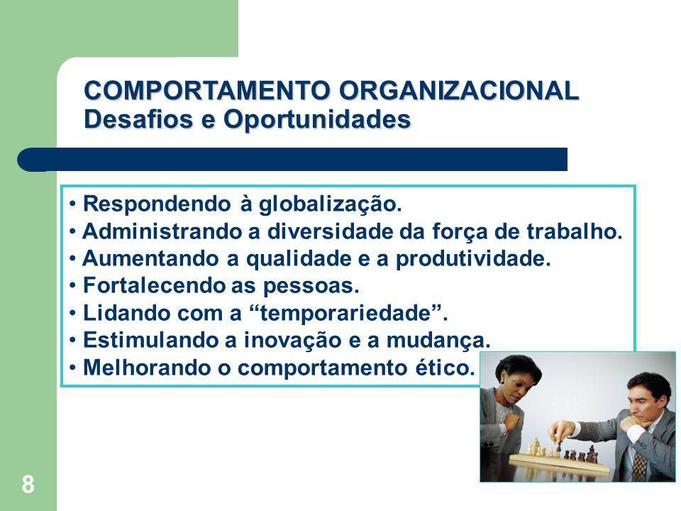 8 Respondendo à globalização. Administrando a diversidade da força de trabalho. Aumentando a qualidade e a produtividade. Fortalecendo as pessoas. Lid