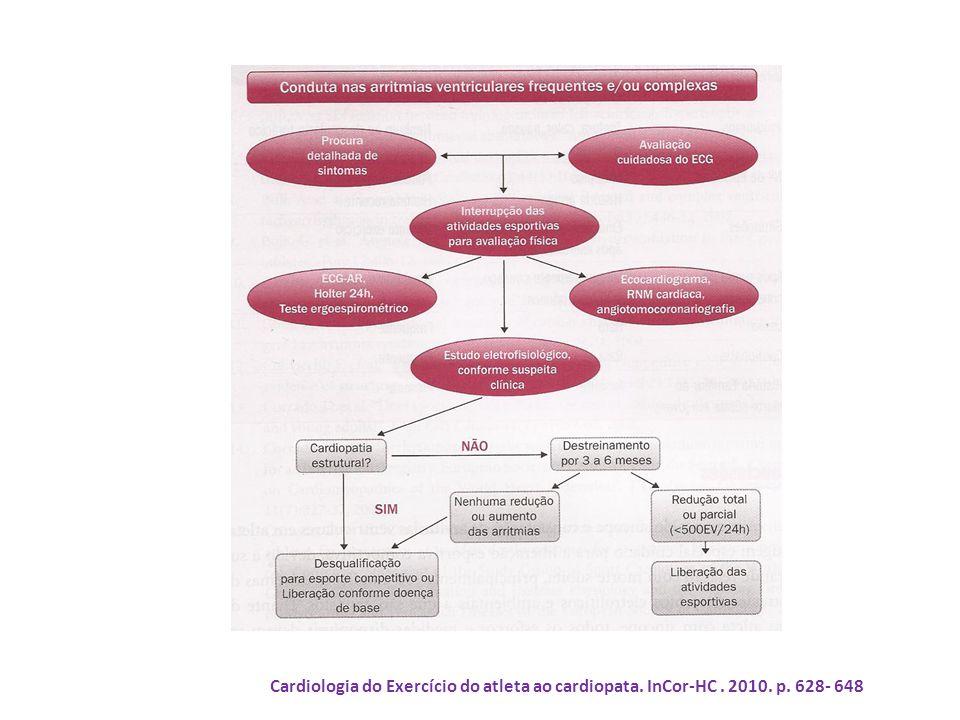 Cardiologia do Exercício do atleta ao cardiopata. InCor-HC. 2010. p. 628- 648