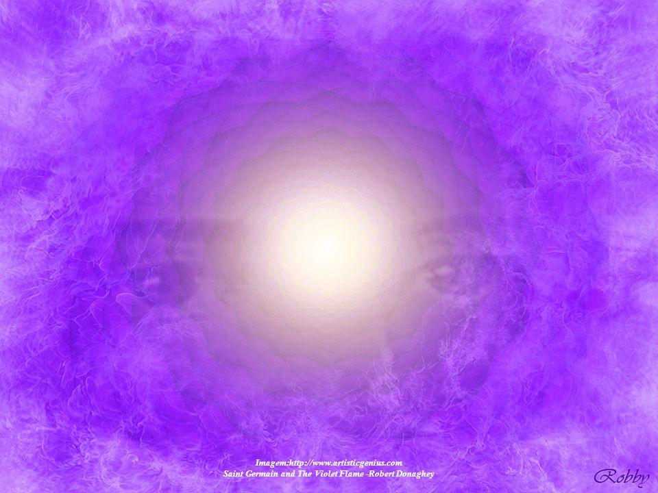 Saint Germain and The Violet Flame Imagem:http://www.artisticgenius.com Saint Germain and The Violet Flame -Robert Donaghey Neste momento de nossa his