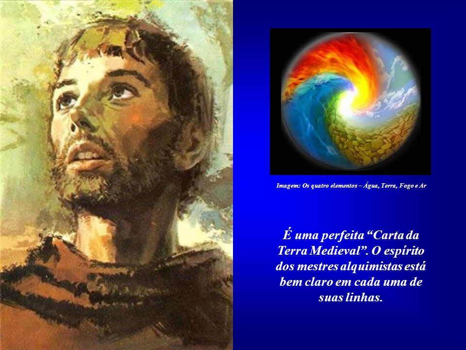 O Hino ao Irmão Sol está subdividido em nove estrofes: Introdução, o Sol, a Lua e as Estrelas, os quatro elementos - Ar, Água, Fogo e Terra - o Amor D