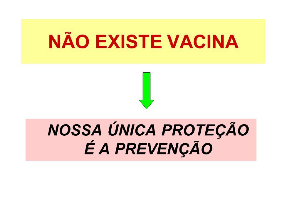 NÃO EXISTE VACINA NOSSA ÚNICA PROTEÇÃO É A PREVENÇÃO