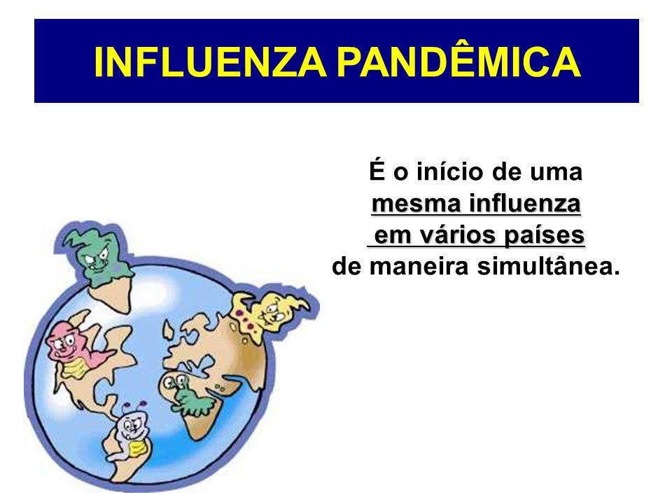 Que consequências teria uma pandemia de qualquer influenza.