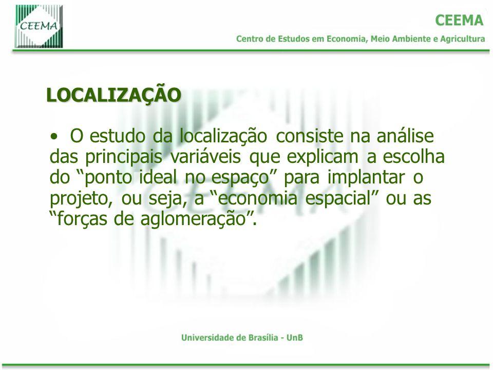 LOCALIZAÇÃO Existem outros elementos que podem influenciar a localização apesar de não serem tão fundamentais na escolha do ponto geográfico ideal.