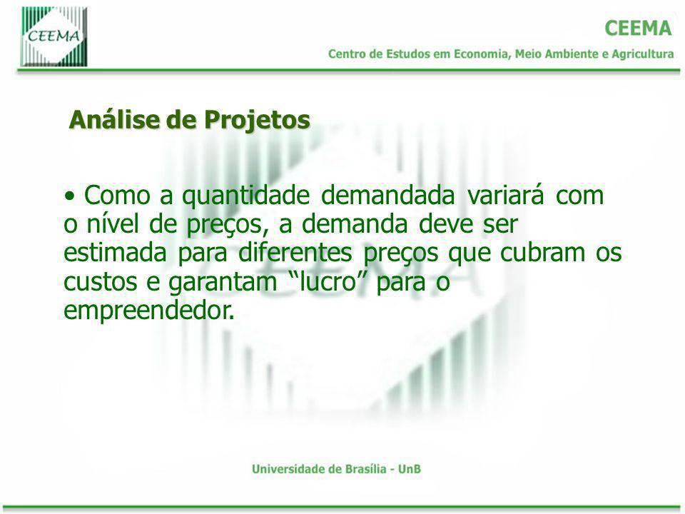 Análise de Projetos Se os ofertantes deslocados forem importadores, o projeto estará substituindo importação.
