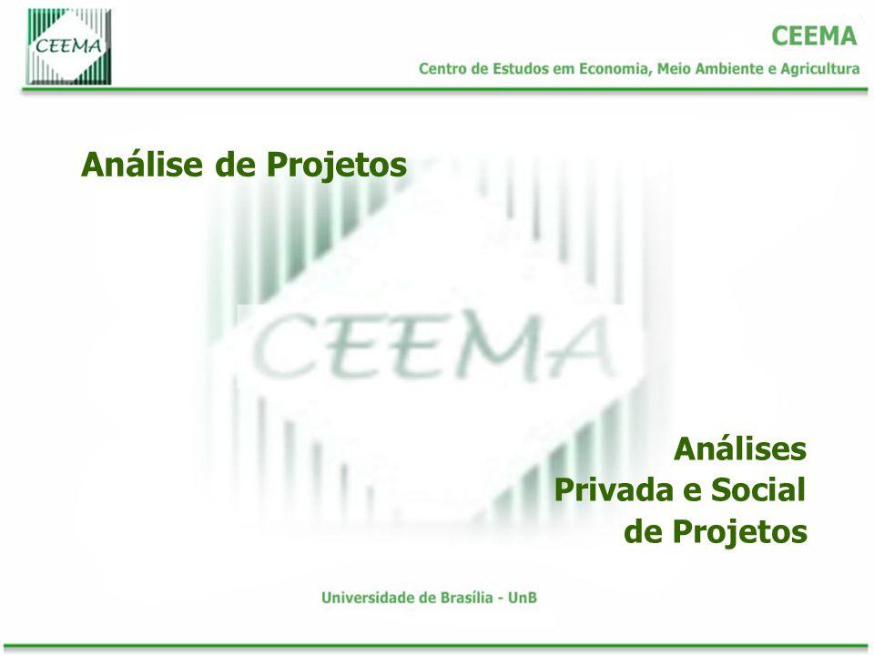 Análise de Projetos Análises Privada e Social de Projetos