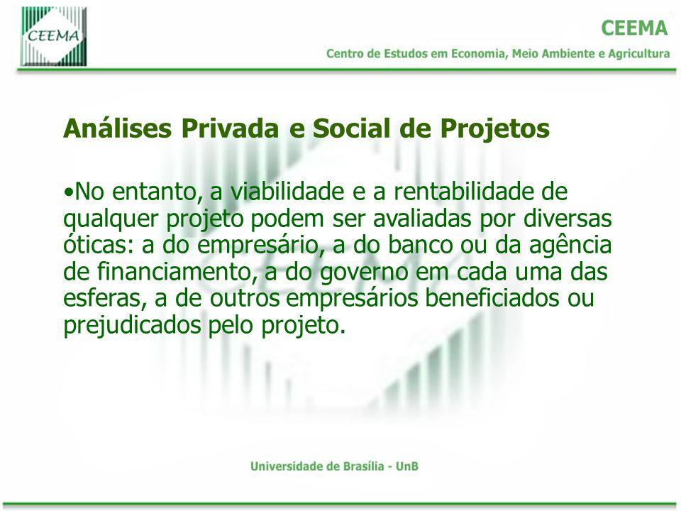 Em síntese, sempre que existirem economias externas, o uso de preços de mercado, na avaliação dos projetos, implicará uma subestimação dos benefícios sociais do investimento.