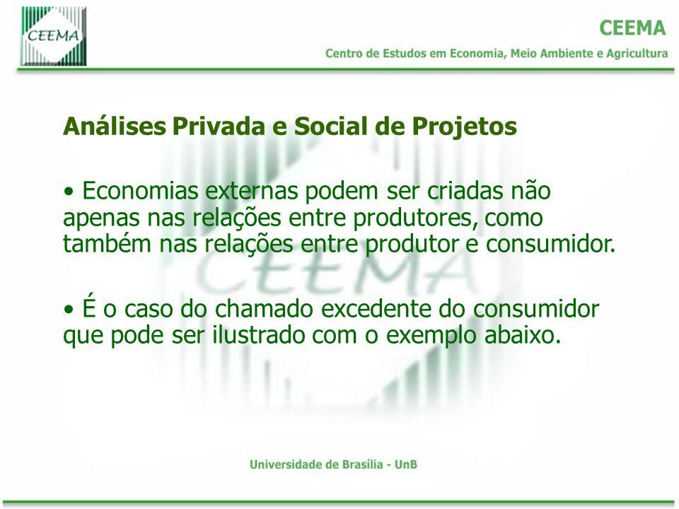 Economias externas podem ser criadas não apenas nas relações entre produtores, como também nas relações entre produtor e consumidor. É o caso do chama
