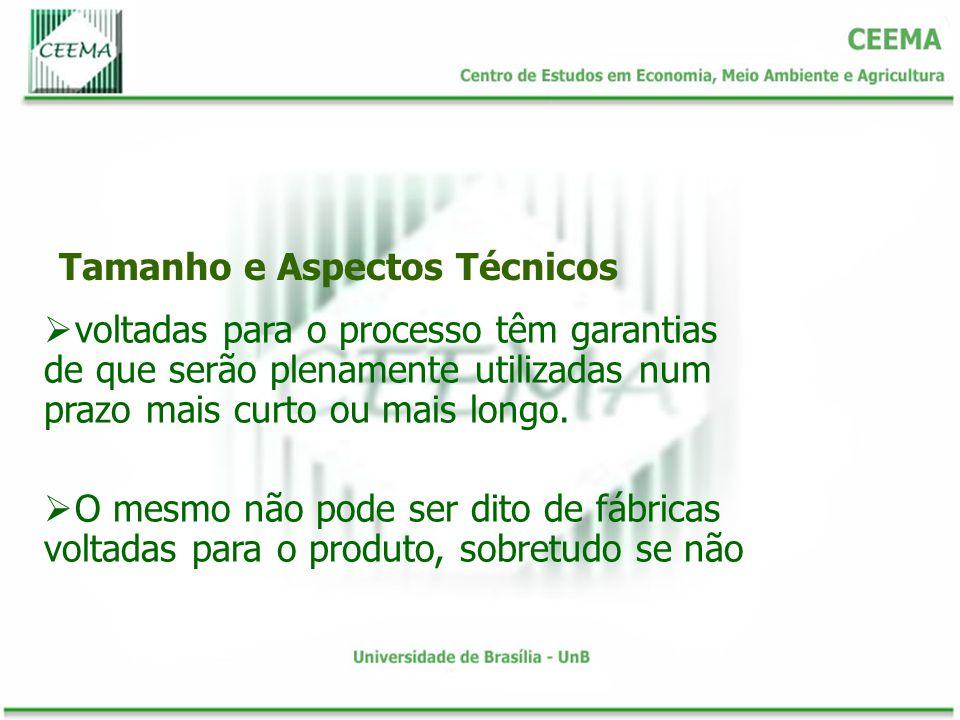 Tamanho e Aspectos Técnicos voltadas para o processo têm garantias de que serão plenamente utilizadas num prazo mais curto ou mais longo.