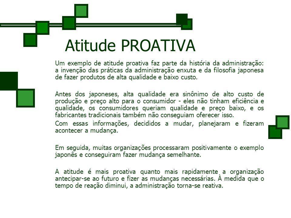 Atitudes em Relação ao Planejamento Planejar é o resultado de atitudes favoráveis à mudança - de atitudes que reconhecem a necessidade de mudança e de
