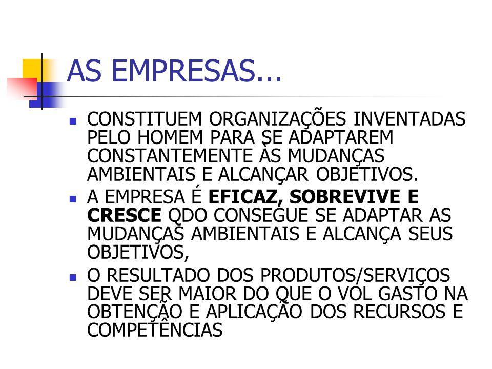 CARACTERÍSTICAS DAS EMPRESAS BEM-SUCEDIDAS 1.LUCRATIVAS – GERAM RIQUEZA 2.