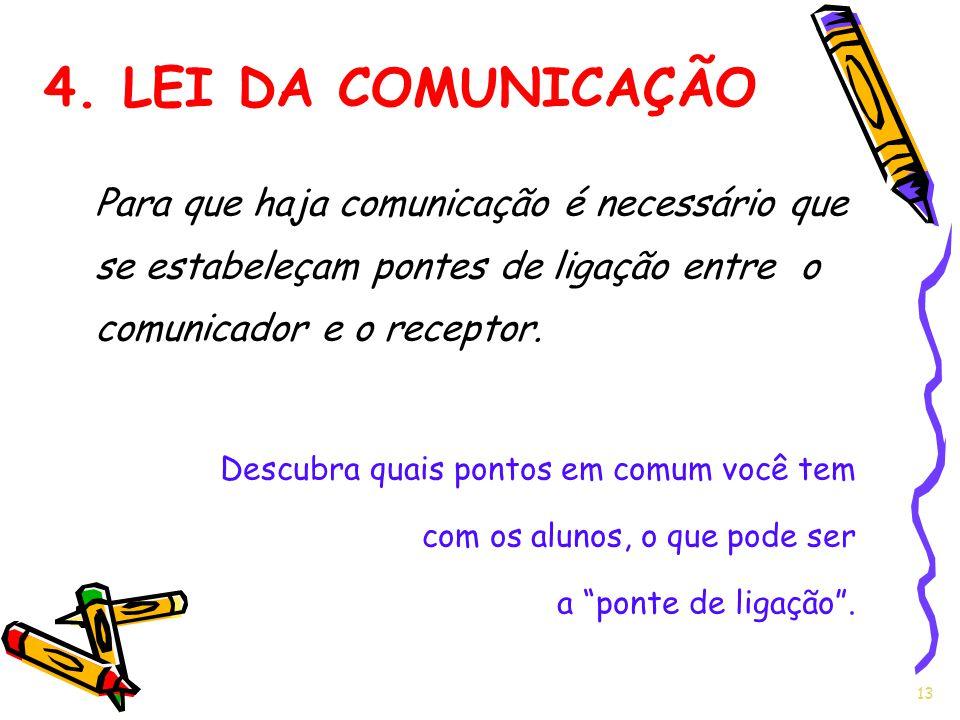 Para que haja comunicação é necessário que se estabeleçam pontes de ligação entre o comunicador e o receptor. Descubra quais pontos em comum você tem