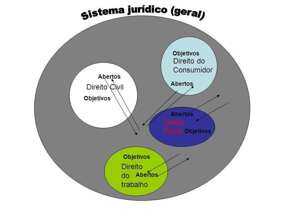 Direito Civil Direito do trabalho Direito do Consumidor Direito Penal Objetivos Abertos