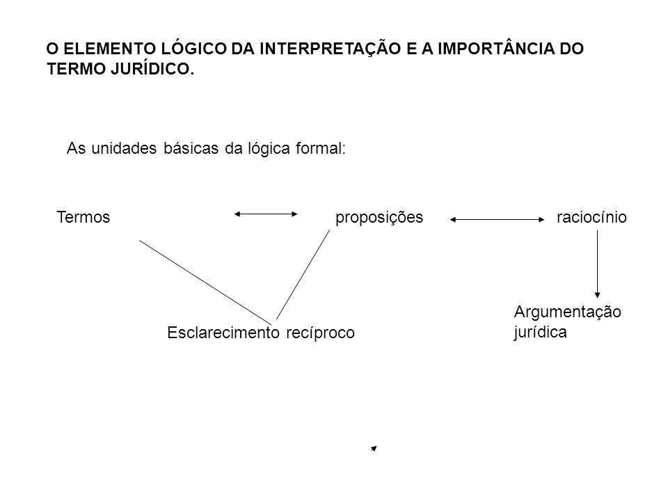 O ELEMENTO LÓGICO DA INTERPRETAÇÃO E A IMPORTÂNCIA DO TERMO JURÍDICO.