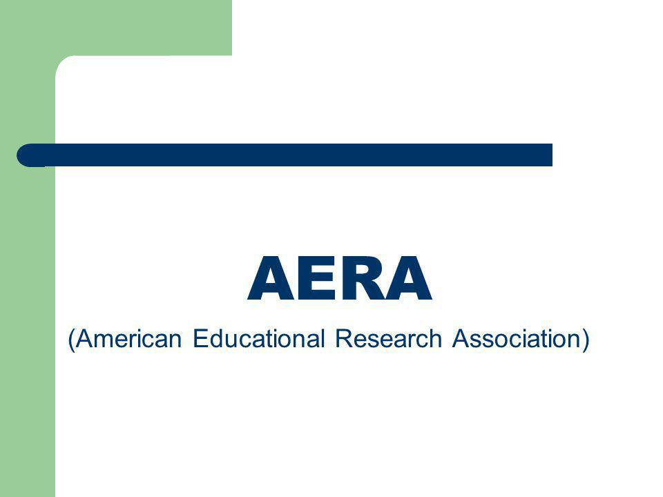 AERA (American Educational Research Association)