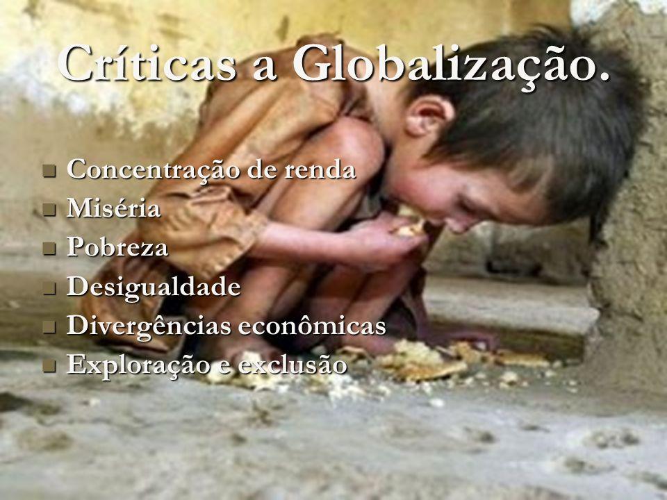 Questões favoráveis a Globalização A globalização não é responsável por: A globalização não é responsável por: Altos índices de natalidade.