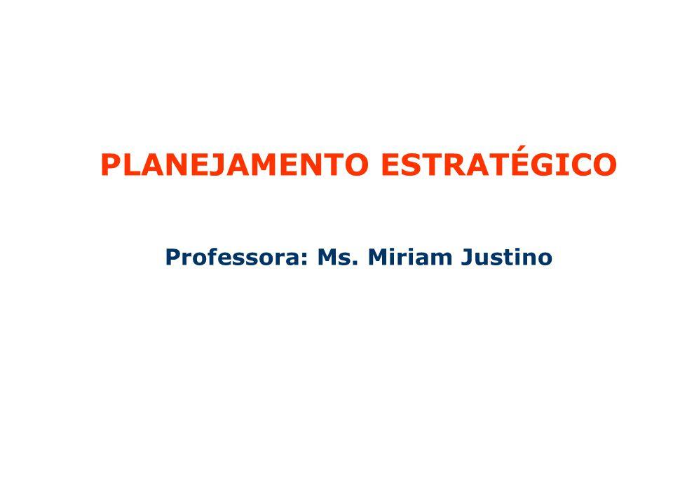 PLANEJAMENTO ESTRATÉGICO PARTICIPATIVO NAS ORGANIZAÇÕES PLANEJAMENTO ESTRATÉGICO Professora: Ms.