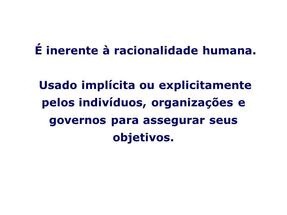 PLANEJAMENTO ESTRATÉGICO PARTICIPATIVO NAS ORGANIZAÇÕES É inerente à racionalidade humana.