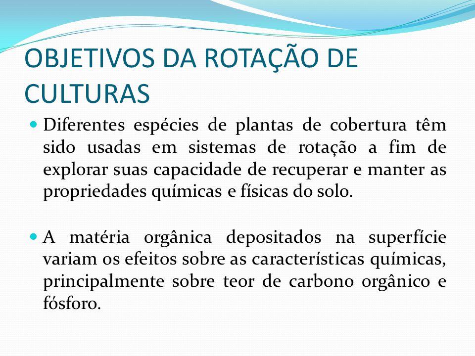 Conceito A rotação de culturas consiste em alternar espécies vegetais, em uma mesma área agrícola.