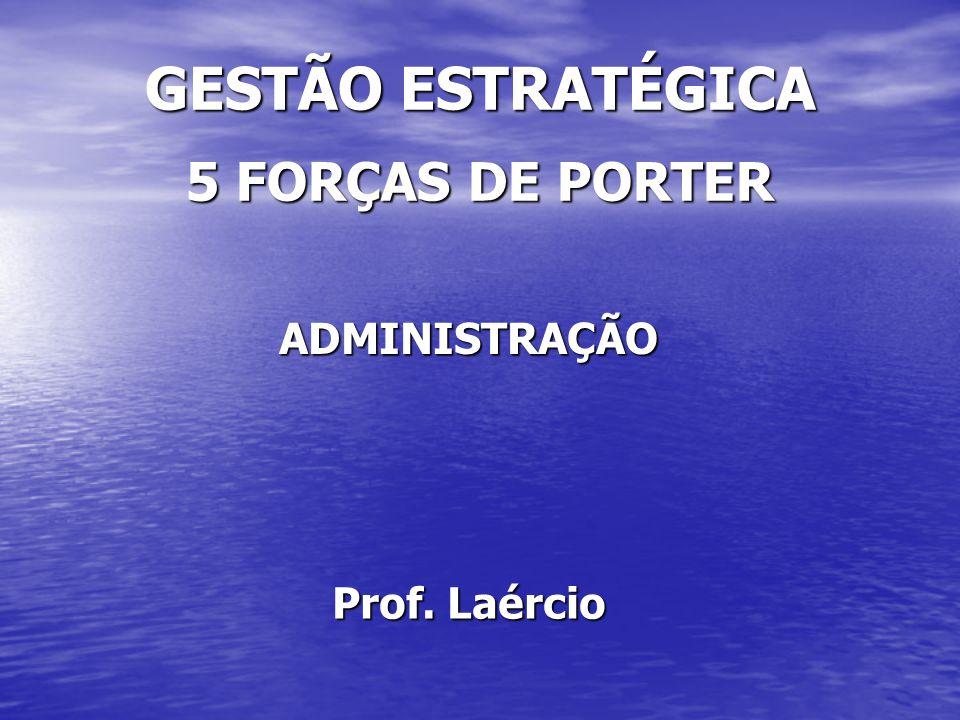 GESTÃO ESTRATÉGICA 5 FORÇAS DE PORTER ADMINISTRAÇÃO Prof. Laércio