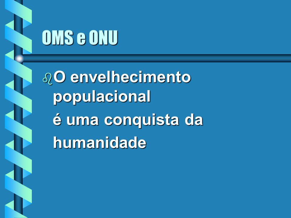 OMS e ONU b O envelhecimento populacional é uma conquista da humanidade