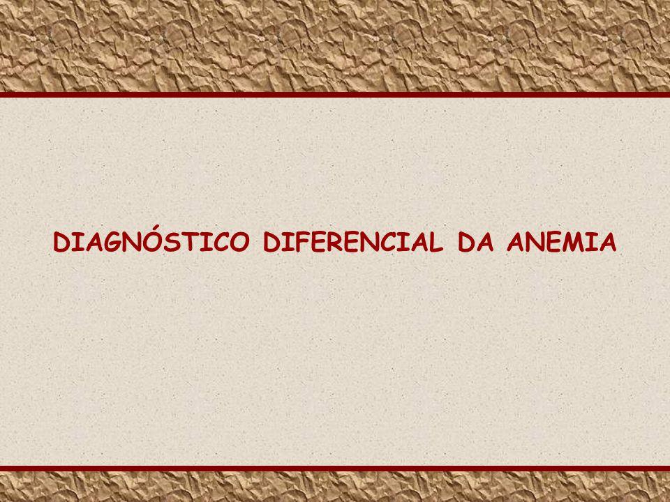 DIAGNÓSTICO DIFERENCIAL DA ANEMIA